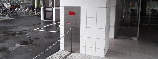 壁埋め込み型ロボットチェーンゲート