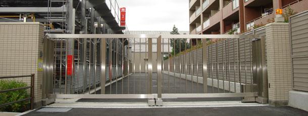 格納式スライドゲート